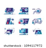 financial technology set icons | Shutterstock .eps vector #1094117972