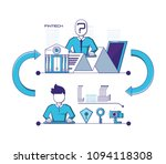 financial technology set icons | Shutterstock .eps vector #1094118308