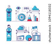 financial technology set icons | Shutterstock .eps vector #1094118332