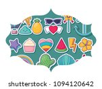 cute icons pattern | Shutterstock .eps vector #1094120642