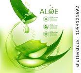 aloe vera collagen serum skin...   Shutterstock .eps vector #1094121692