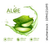 aloe vera collagen serum skin... | Shutterstock .eps vector #1094121695