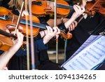 violin in orchestra   Shutterstock . vector #1094134265
