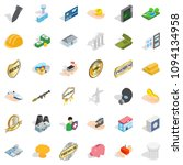 corporate icons set. isometric... | Shutterstock . vector #1094134958