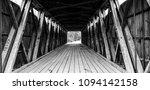 Old Covered Bridge Interior.