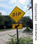 dip road sign | Shutterstock . vector #1094145512
