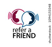 refer a friend with people icon.... | Shutterstock .eps vector #1094153348