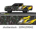 pickup truck livery vector....   Shutterstock .eps vector #1094159042