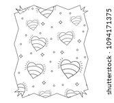 hearts pattern design | Shutterstock .eps vector #1094171375