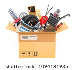 cardboard box  parcel with car... | Shutterstock . vector #1094181935