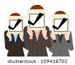 business people with check mark ... | Shutterstock .eps vector #109418702