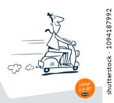 vintage style clip art   happy... | Shutterstock .eps vector #1094187992