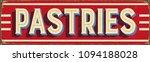 vintage style vector metal sign ... | Shutterstock .eps vector #1094188028