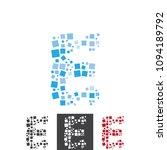 vector letter e alphabet typo... | Shutterstock .eps vector #1094189792