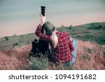 girl in an embrace with a... | Shutterstock . vector #1094191682