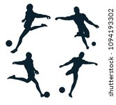 soccer pose shooting vector... | Shutterstock .eps vector #1094193302