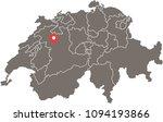 switzerland map vector outline...   Shutterstock .eps vector #1094193866