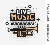 live music in the concert... | Shutterstock .eps vector #1094197928