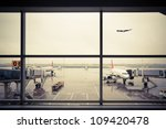 airport outside the window... | Shutterstock . vector #109420478