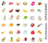 cooking icons set. isometric... | Shutterstock . vector #1094218682