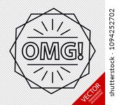 omg  icon   vector illustration ...   Shutterstock .eps vector #1094252702
