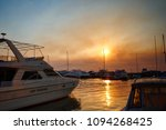 yachts in the harbor at sunset | Shutterstock . vector #1094268425