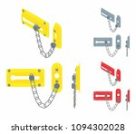 chain door lock | Shutterstock .eps vector #1094302028