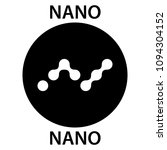 nano coin cryptocurrency... | Shutterstock .eps vector #1094304152