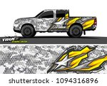 pickup truck livery graphic...   Shutterstock .eps vector #1094316896