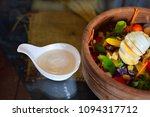 egg salad is a menu for health... | Shutterstock . vector #1094317712