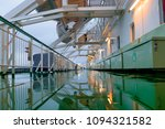 damp deck of the ship in the... | Shutterstock . vector #1094321582