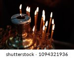 burning candles in the church... | Shutterstock . vector #1094321936