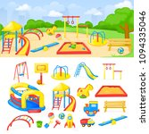 playground park cartoon vector... | Shutterstock .eps vector #1094335046