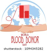 world blood donor day. vector... | Shutterstock .eps vector #1094345282