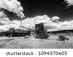 Small photo of Ghost town of Bodie is a National Historic Landmark. It is located in Mono County, Sierra Nevada - California. United States of America. The town was founded in 1859. Black and white