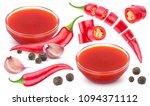 chilli sauce ingredients... | Shutterstock . vector #1094371112