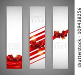 set of banners with red bows... | Shutterstock .eps vector #109438256