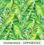 seamless watercolor palm... | Shutterstock . vector #1094383262