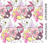 cute summer pattern with white... | Shutterstock .eps vector #1094384348