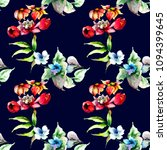seamless pattern with stylized...   Shutterstock . vector #1094399645