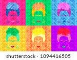 frida kahlo vector portrait.... | Shutterstock .eps vector #1094416505