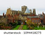 gothic cathedral of york   view ... | Shutterstock . vector #1094418275