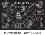 history. hand sketches on the... | Shutterstock .eps vector #1094427206