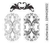 classical baroque vector set of ...   Shutterstock .eps vector #1094428502