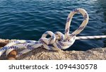 nautical knot and blue sea... | Shutterstock . vector #1094430578