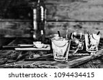 black and white. alcohol. two... | Shutterstock . vector #1094434415