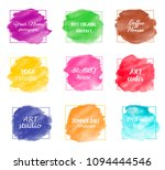 watercolor set elements for... | Shutterstock .eps vector #1094444546