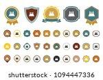 vector bed  icon | Shutterstock .eps vector #1094447336