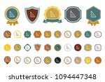 triangle  ruler  icon | Shutterstock .eps vector #1094447348