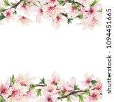 floral frame with illustration...   Shutterstock . vector #1094451665
